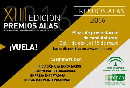 Se convocan los Premios Alas  a la Internacionalización de la Empresa Andaluza 2016
